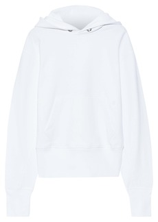 Helmut Lang Woman French Cotton-terry Hoodie White