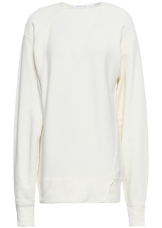 Helmut Lang Woman French Cotton-terry Sweatshirt Off-white