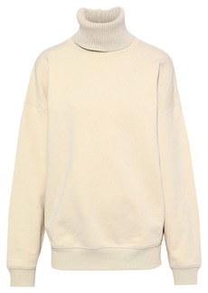 Helmut Lang Woman French Cotton-terry Turtleneck Sweatshirt Cream