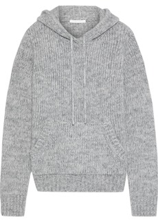 Helmut Lang Woman Ghost Mélange Knitted Hoodie Stone