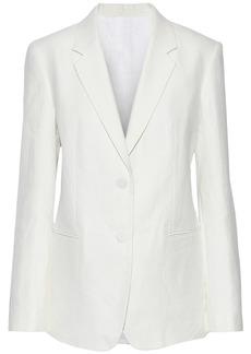 Helmut Lang Woman Hemp And Cotton-blend Blazer Off-white