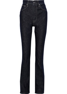 Helmut Lang Woman High-rise Bootcut Jeans Dark Denim