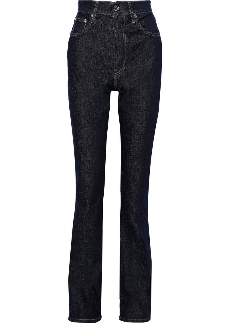 Helmut Lang Woman High-rise Bootcut Jeans Dark Denim