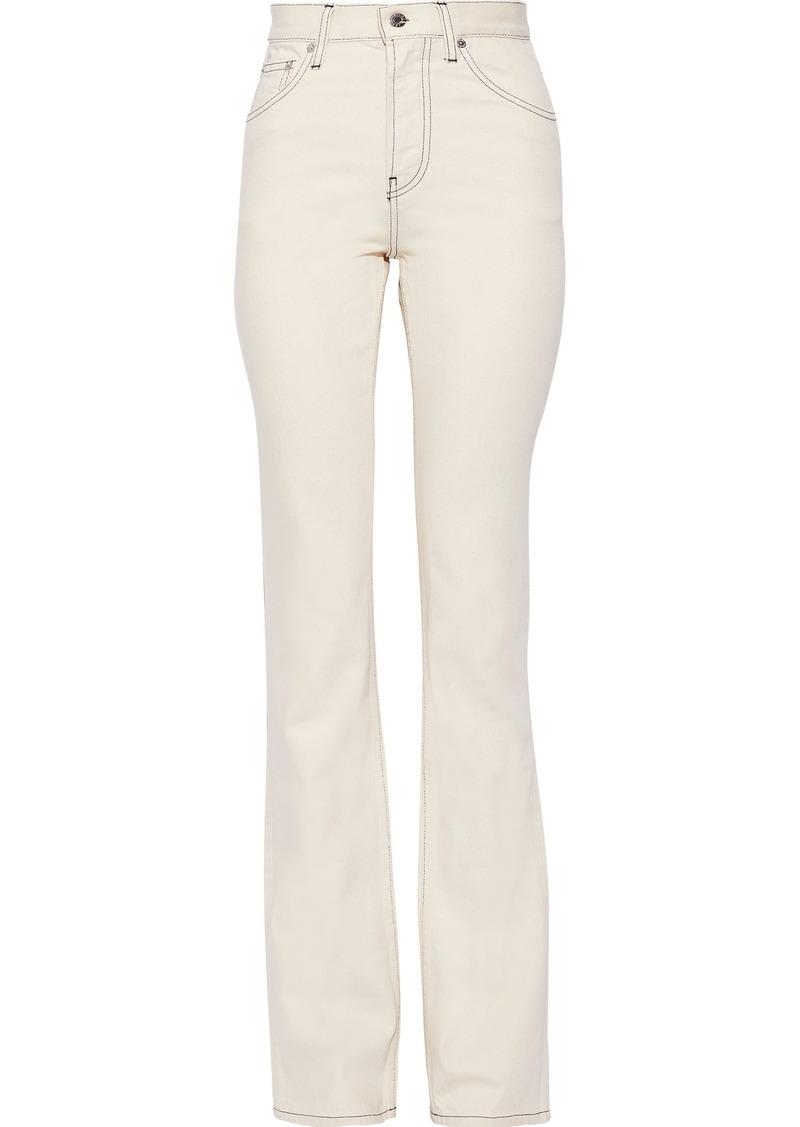 Helmut Lang Woman High-rise Bootcut Jeans Ecru