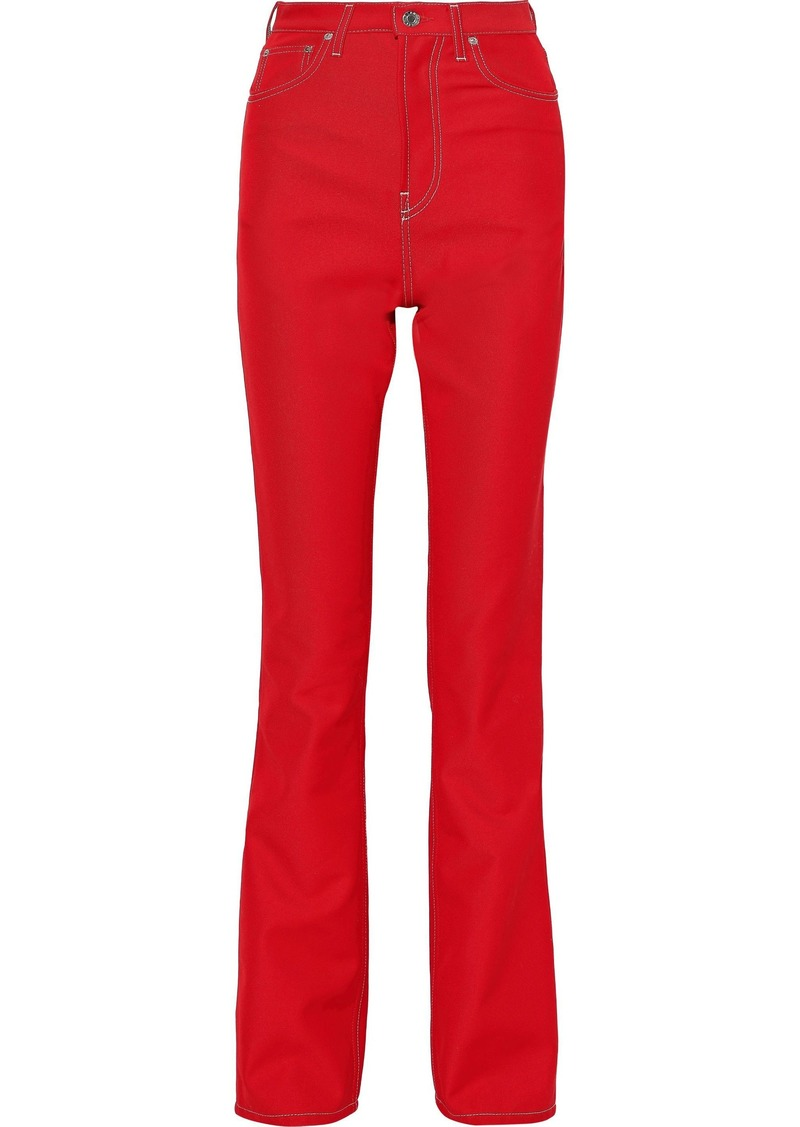 Helmut Lang Woman High-rise Bootcut Jeans Tomato Red