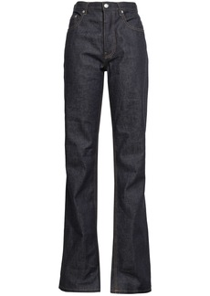 Helmut Lang Woman High-rise Straight-leg Jeans Dark Denim