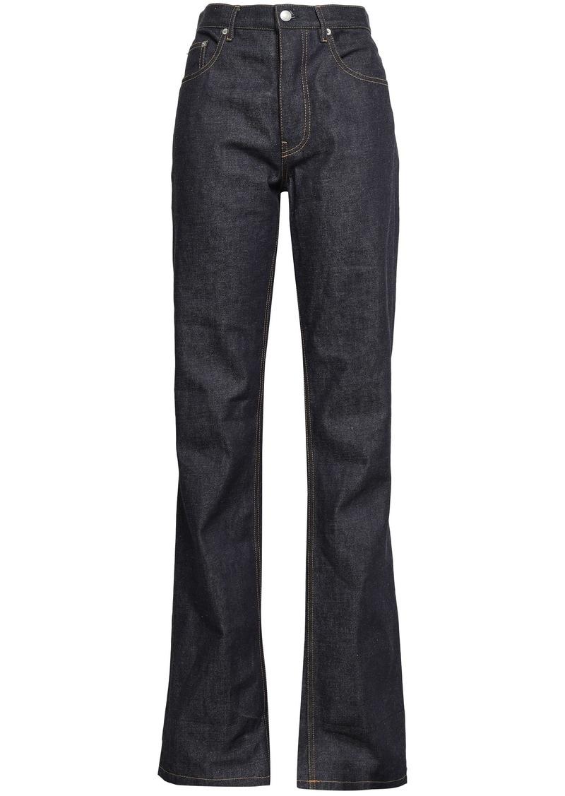 Helmut Lang Woman High-rise Straight-leg Jeans Dark Denim