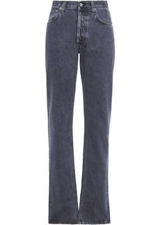 Helmut Lang Woman High-rise Straight-leg Jeans Dark Gray