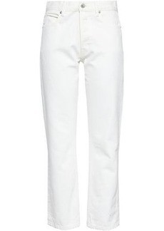 Helmut Lang Woman High-rise Straight-leg Jeans White