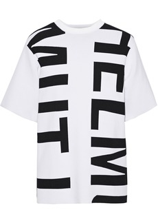 Helmut Lang Woman Jacquard-knit T-shirt White