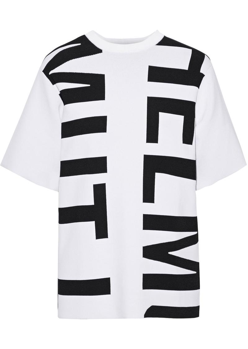 Helmut Lang Woman Jacquard-knit T-shirt White