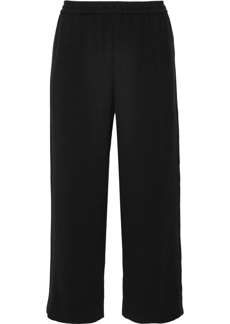 Helmut Lang Woman Julian Cropped Crepe Wide-leg Pants Black
