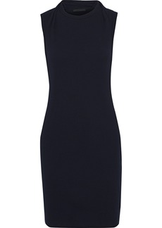 Helmut Lang Woman Layered Cotton-jersey Mini Dress Midnight Blue