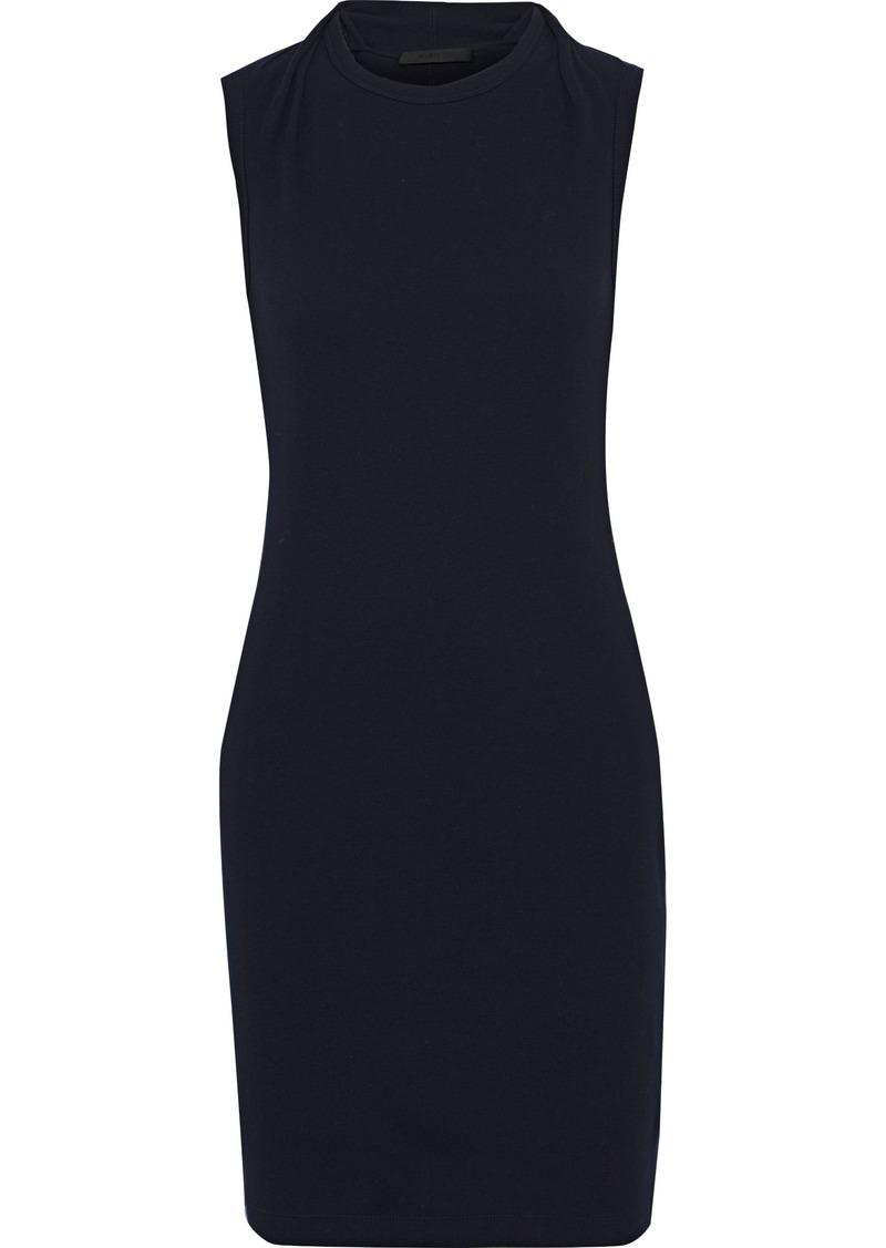 Helmut Lang Woman Layered Cotton-jersey Mini Dress Midnight Blue