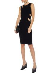 Helmut Lang Woman Layered Cutout Ribbed-knit Dress Black