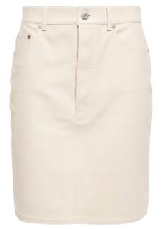 Helmut Lang Woman Leather Mini Skirt Neutral