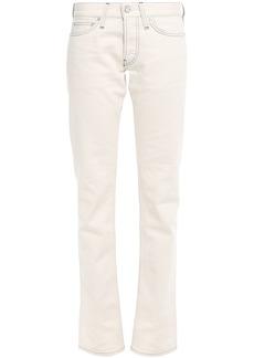 Helmut Lang Woman Low-rise Slim-leg Jeans Ivory