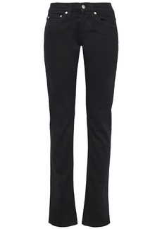 Helmut Lang Woman Masc Lo Low-rise Slim-leg Jeans Black