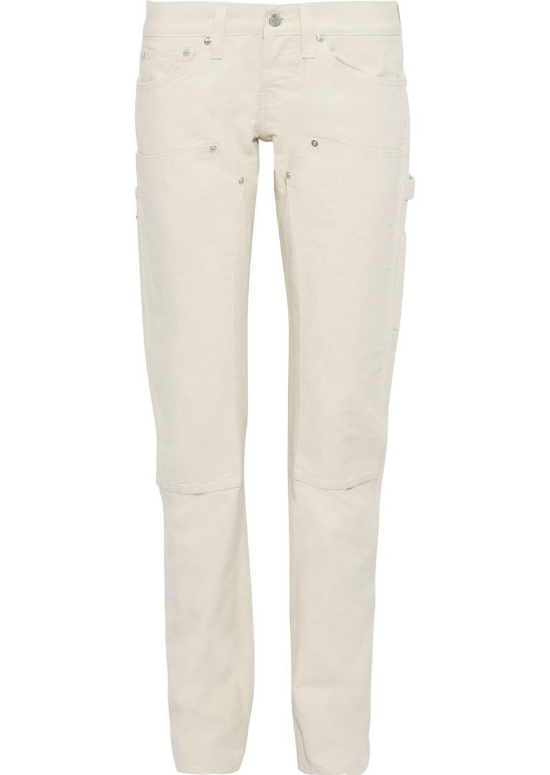Helmut Lang Woman Masc Lo Low-rise Straight-leg Jeans Ecru