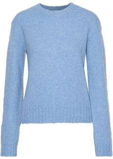 Helmut Lang Woman Brushed Mélange Knitted Sweater Light Blue