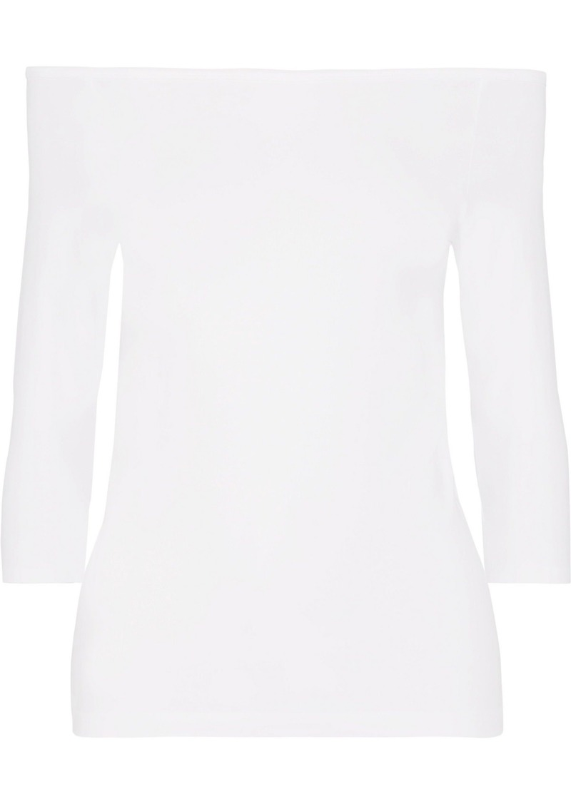 Helmut Lang Woman Off-the-shoulder Stretch-jersey Top White
