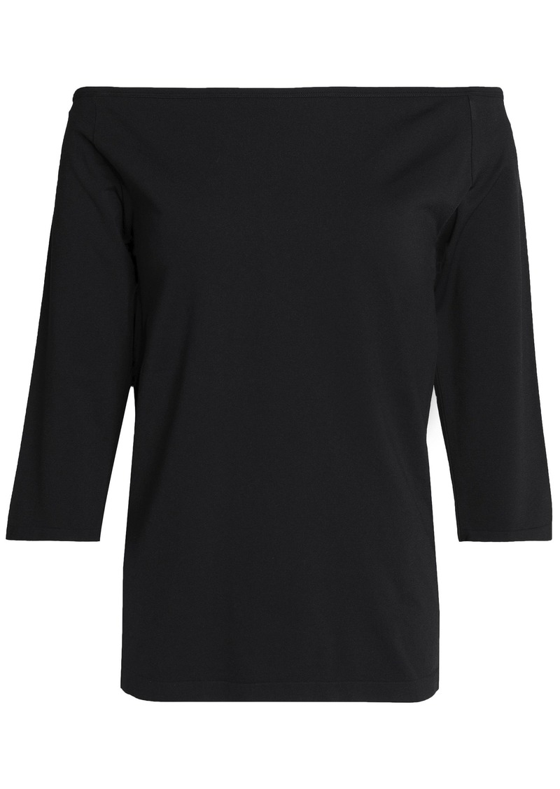 Helmut Lang Woman Off-the-shoulder Stretch-jersey Top Black