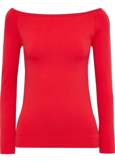 Helmut Lang Woman Off-the-shoulder Stretch-jersey Top Red