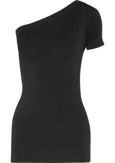 Helmut Lang Woman One-shoulder Stretch-jersey Top Black