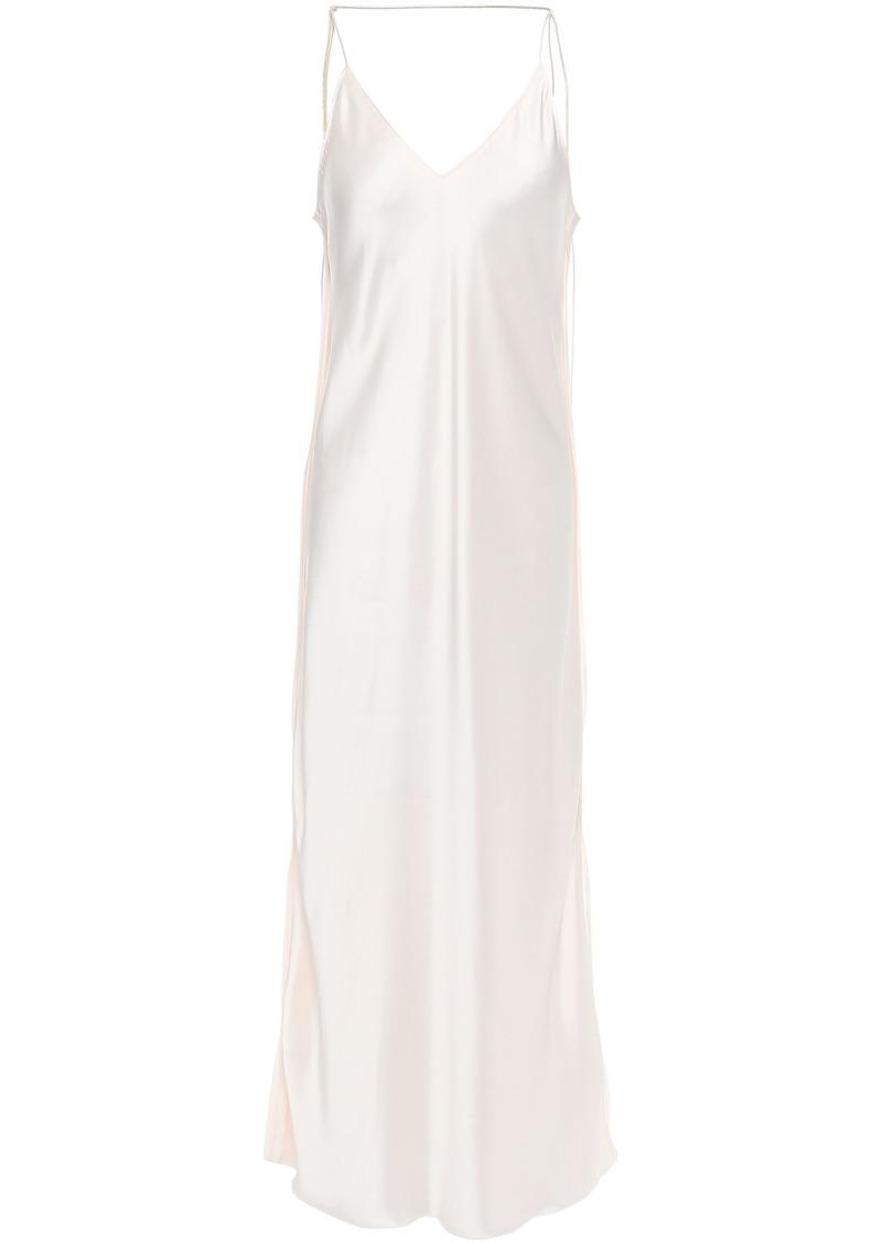 Helmut Lang Woman Open-back Satin Midi Slip Dress Cream