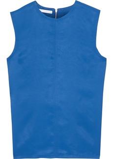 Helmut Lang Woman Open-back Satin-shell Top Cobalt Blue