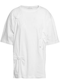 Helmut Lang Woman Oversized Knotted Cotton-jersey T-shirt White