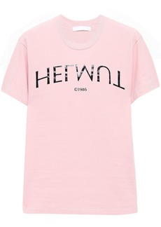 Helmut Lang Woman Printed Cotton-jersey T-shirt Baby Pink