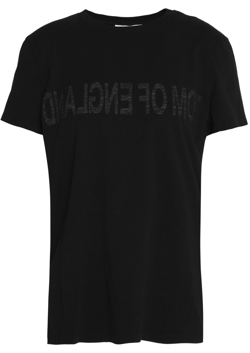 Helmut Lang Woman Printed Cotton-jersey T-shirt Black