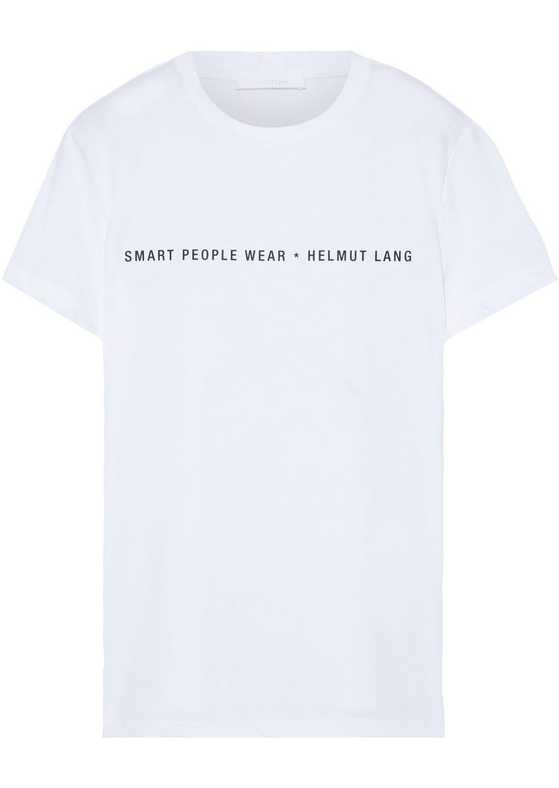 Helmut Lang Woman Printed Cotton-jersey T-shirt White