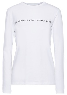 Helmut Lang Woman Printed Cotton-jersey Top White