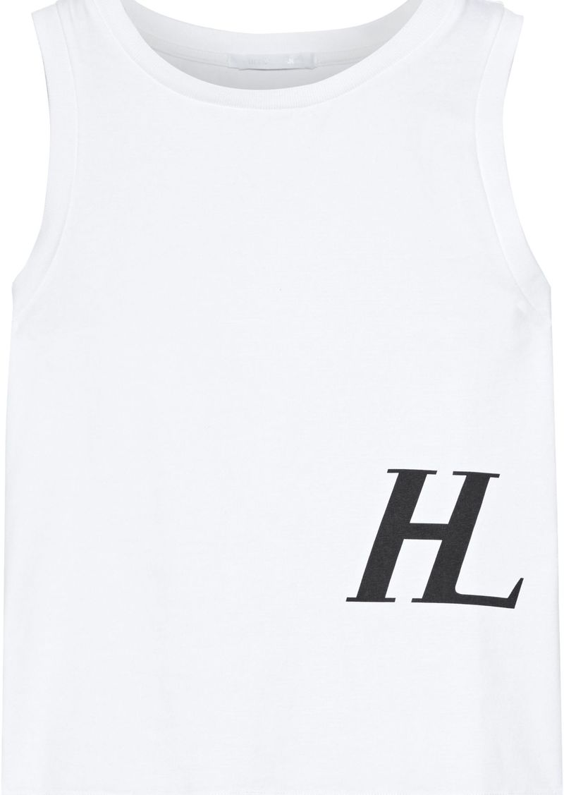 Helmut Lang Woman Printed Cotton-jersey Tank White