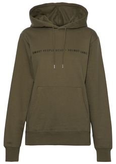 Helmut Lang Woman Printed French Cotton-terry Sweatshirt Army Green