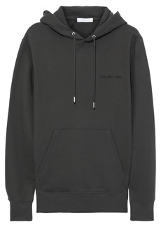 Helmut Lang Woman Printed French Cotton-terry Hoodie Charcoal