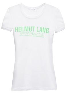 Helmut Lang Woman Printed Mesh T-shirt White