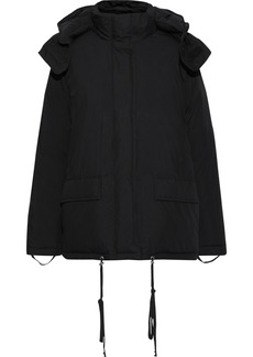 Helmut Lang Woman Quilted Cotton-blend Down Hooded Jacket Black