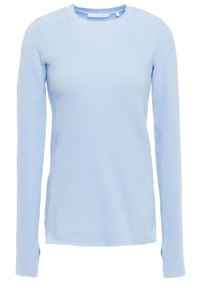 Helmut Lang Woman Ribbed-knit Sweater Sky Blue