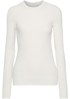 Helmut Lang Woman Ribbed-knit Top Pastel Orange