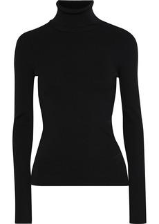 Helmut Lang Woman Ribbed-knit Turtleneck Top Black