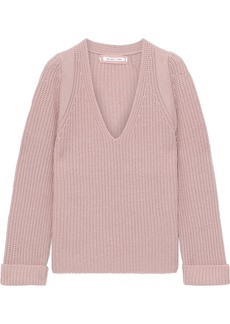 Helmut Lang Woman Ribbed Wool And Cashmere-blend Sweater Blush