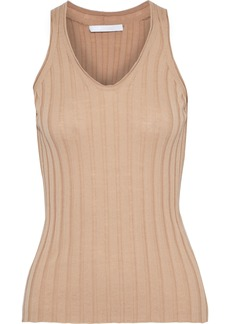 Helmut Lang Woman Ribbed Wool Tank Sand