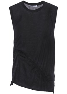 Helmut Lang Woman Ruched Cashmere Top Black