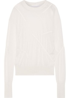 Helmut Lang Woman Gathered Cashmere Sweater Off-white