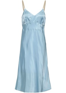 Helmut Lang Woman Satin Slip Dress Light Blue