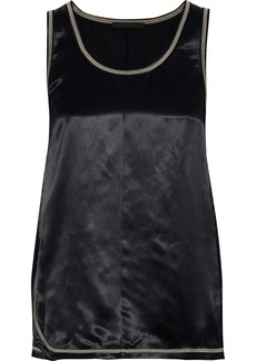 Helmut Lang Woman Satin Tank Black