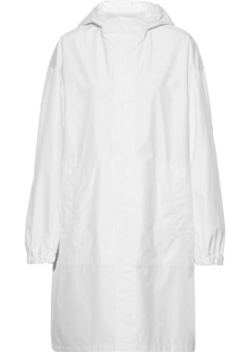 Helmut Lang Woman Shell Hooded Coat White